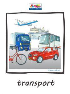 vervoer in het Engels