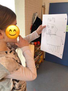 Leerlingen ontwerpen hun eigen robot met vormen